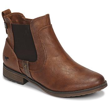 Chaussures Femme Boots Mustang  Marron