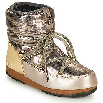 Chaussures Femme Bottes de neige Moon Boot LOW SAINT MORITZ WP Silver