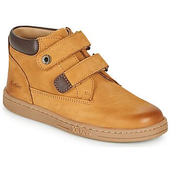 Chaussures Garçon Boots Kickers TACKEASY Camel / Marron