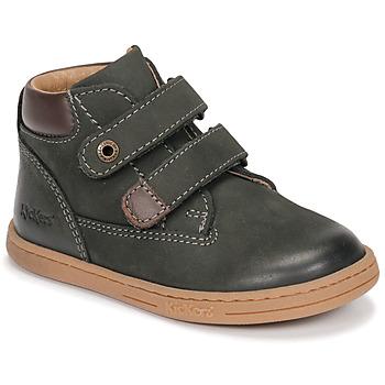 Chaussures Garçon Boots Kickers TACKEASY Kaki