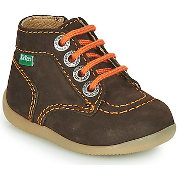 Chaussures Garçon Boots Kickers BONZIP-2 Marron / Orange