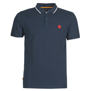 Vêtements Homme Polos manches courtes Timberland SS MR Pique tipped Bleu