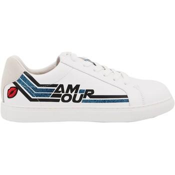 Chaussures Femme Baskets basses Bons Baisers De Paname Simone Amour Retro Blanc/bleu BLANC