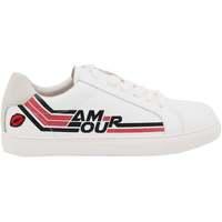 Chaussures Femme Baskets basses Bons Baisers De Paname Simone Amour Retro Blanc/rose BLANC