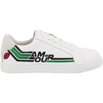 Chaussures Femme Baskets basses Bons Baisers De Paname Simone Amour Retro Blanc/vert BLANC