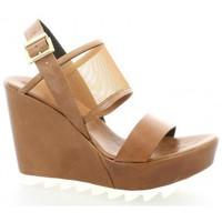 Chaussures Femme Sandales et Nu-pieds Elizabeth Stuart Nu pieds cuir Cognac