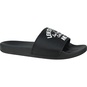 Chaussures Homme Claquettes Levi's June California Blanc, Noir