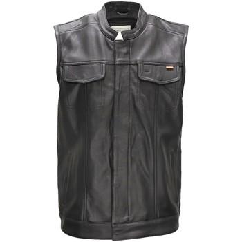 Vêtements Homme Gilets / Cardigans Daytona Gilet en cuir sans manches  Hot Road ref_48755 Noir noir
