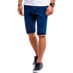 Vêtements Homme Shorts / Bermudas Monsieurmode Bermuda homme chino Bermuda 010 bleu foncé Bleu