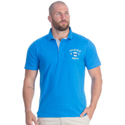 Vêtements Homme Polos manches courtes Ruckfield Polo turquoise flowers Bleu