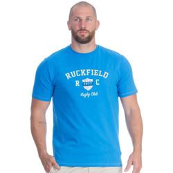 Vêtements Homme T-shirts manches courtes Ruckfield T-shirt bleu rugby flowers Bleu