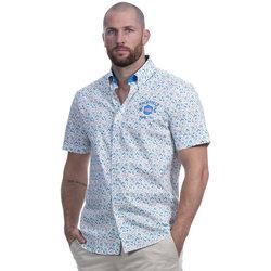 Vêtements Homme Chemises manches courtes Ruckfield Chemise flower Blanc