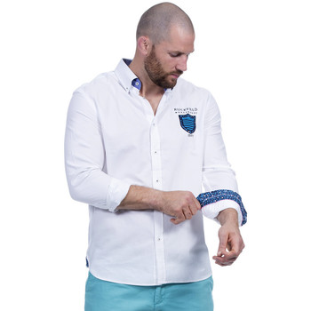 Vêtements Homme Chemises manches longues Ruckfield Chemise blanche we are rugby Blanc