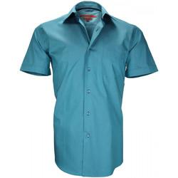 Vêtements Homme Chemises manches courtes Andrew Mc Allister chemisette en popeline coastgrove vert Vert