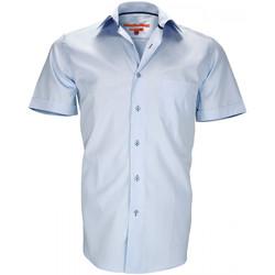 Vêtements Homme Chemises manches courtes Andrew Mc Allister chemise en popeline coastgrove bleu Bleu