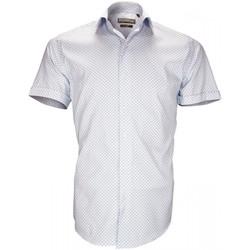 Vêtements Homme Chemises manches courtes Emporio Balzani chemise stretch albinoni bleu Bleu