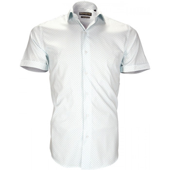 Vêtements Homme Chemises manches courtes Emporio Balzani chemise stretch albinoni turquoise Turquoise