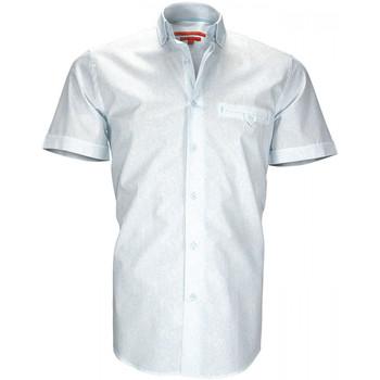 Vêtements Homme Chemises manches courtes Andrew Mc Allister chemise imprimee alperton bleu Bleu