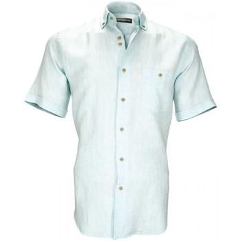 Vêtements Homme Chemises manches courtes Emporio Balzani chemisette en lin san martino vert Vert
