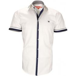Vêtements Homme Chemises manches courtes Andrew Mc Allister chemise mode new sheffield blanc Blanc