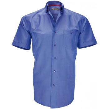 Vêtements Homme Chemises manches courtes Emporio Balzani chemisette a carreaux barbarino bleu Bleu