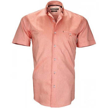 Vêtements Homme Chemises manches courtes Emporio Balzani chemisette oxford filippi orange Orange