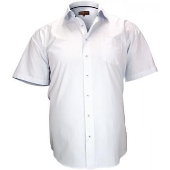 Vêtements Homme Chemises manches courtes Doublissimo chemisette a rayure lewis blanc Blanc