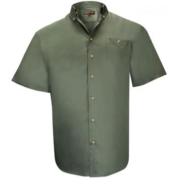 Vêtements Homme Chemises manches courtes Doublissimo chemises popeline dundee vert Vert