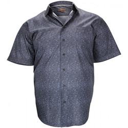 Vêtements Homme Chemises manches courtes Doublissimo chemisette a fleur lockinver noir Noir