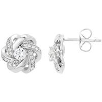 Montres & Bijoux Femme Boucles d'oreilles Sc Crystal B2034-BO Argenté