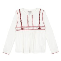 Vêtements Fille Tops / Blouses Chipie 8R12014-19 Blanc