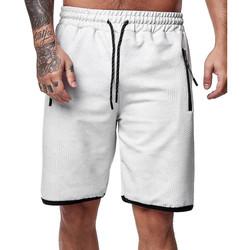 Vêtements Homme Shorts / Bermudas Monsieurmode Bermuda homme camouflage Bermuda 3622 gris clair Gris