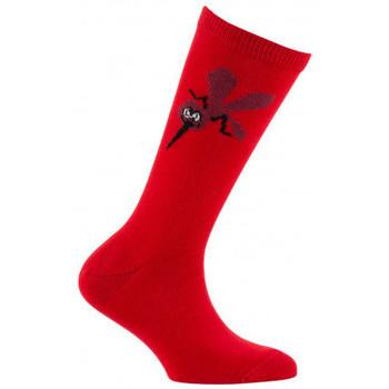 Accessoires Enfant Chaussettes Kindy Mi-chaussettes Mousquito en coton Rouge
