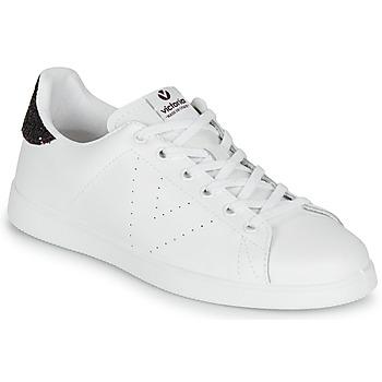 Chaussures Femme Baskets basses Victoria TENIS PIEL Blanc / Bordeaux