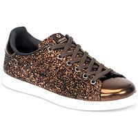 Chaussures Femme Baskets basses Victoria TENIS GLITTER Bronze