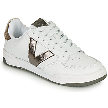 Chaussures Femme Baskets basses Victoria CRONO PIEL Blanc / Bronze