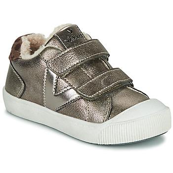 Chaussures Fille Baskets basses Victoria HUELLAS  TIRAS Argenté
