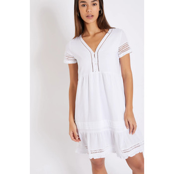 Vêtements Femme Robes courtes Banana Moon AMY NAUSICAA Blanc