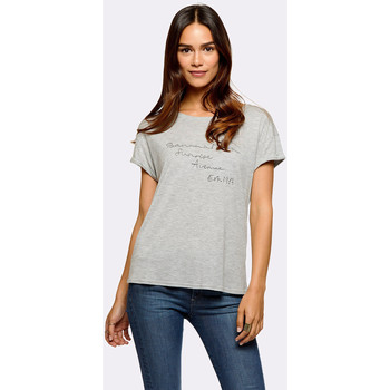 Vêtements Femme T-shirts manches courtes Banana Moon AVENUE WEEKLY GRIS CHINE