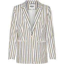 Vêtements Femme Vestes / Blazers Only ONLANDREA-NATALY BLAZER TLR Cloud Dancer beige