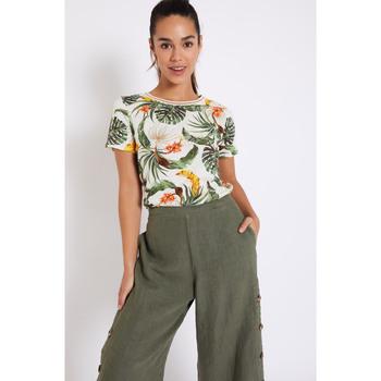 Vêtements Femme T-shirts manches courtes Banana Moon PRAVEL HADLOW ECRU