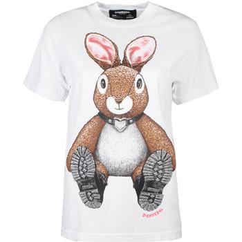 Vêtements Femme T-shirts manches courtes Domrebel  Blanc