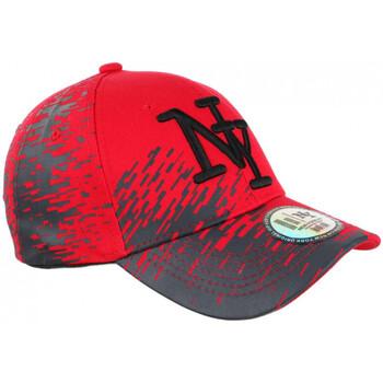 Accessoires textile Casquettes Hip Hop Honour Casquette NY Rouge et Grise City Fashion Baseball Noryk Rouge