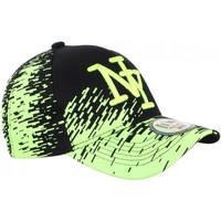 Accessoires textile Casquettes Hip Hop Honour Casquette NY Noire et Jaune Fluo City Fashion Baseball Noryk Noir