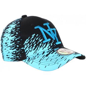 Accessoires textile Casquettes Hip Hop Honour Casquette NY Noire Tags Bleu Ciel City Fashion Baseball Noryk Bleu
