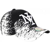 Accessoires textile Casquettes Hip Hop Honour Casquette NY Noire Tags Blancs City Fashion Baseball Noryk Blanc
