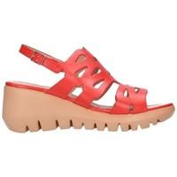 Chaussures Femme Sandales et Nu-pieds Wonders D-9003 perfumera rojo Mujer Rojo rouge