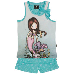 Vêtements Fille Pyjamas / Chemises de nuit Admas Pyjama short débardeur So Nice To Sea You Santoro bleu Bleu