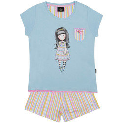 Vêtements Fille Pyjamas / Chemises de nuit Admas Pyjama short t-shirt And All Things Nice Santoro bleu Bleu
