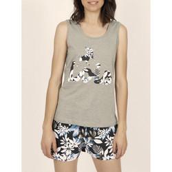 Vêtements Femme Débardeurs / T-shirts sans manche Admas Pyjama débardeur short Lois Jungle kaki Kaki